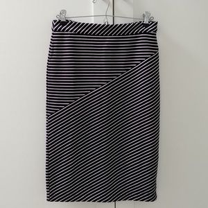 Banana Republic Striped Pencil Skirt Size 4